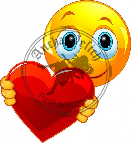 Valentine smiley emoticon
